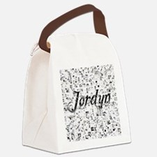Jordyn, Matrix, Abstract Art Canvas Lunch Bag