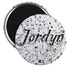 Jordyn, Matrix, Abstract Art Magnet