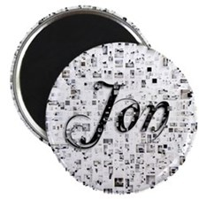 Jon, Matrix, Abstract Art Magnet