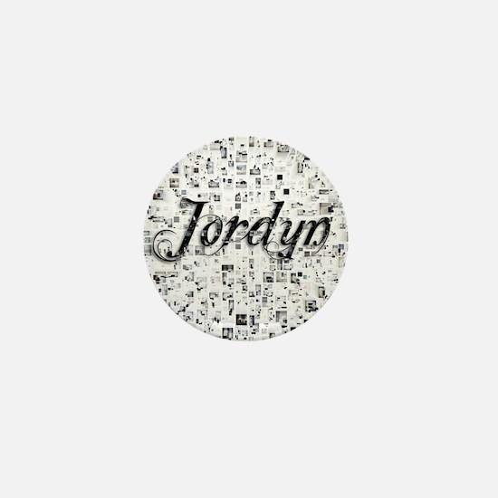 Jordyn, Matrix, Abstract Art Mini Button