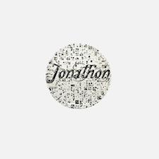 Jonathon, Matrix, Abstract Art Mini Button