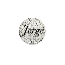 Jorge, Matrix, Abstract Art Mini Button