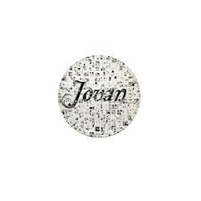 Jovan, Matrix, Abstract Art Mini Button