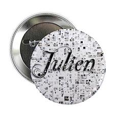 """Julien, Matrix, Abstract Art 2.25"""" Button"""