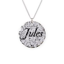 Jules, Matrix, Abstract Art Necklace