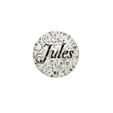 Jules, Matrix, Abstract Art Mini Button