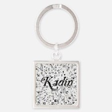 Kadin, Matrix, Abstract Art Square Keychain
