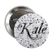"""Kale, Matrix, Abstract Art 2.25"""" Button"""