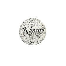Kamari, Matrix, Abstract Art Mini Button