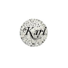 Karl, Matrix, Abstract Art Mini Button