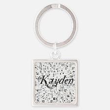 Kayden, Matrix, Abstract Art Square Keychain