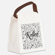 Kellen, Matrix, Abstract Art Canvas Lunch Bag