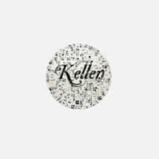 Kellen, Matrix, Abstract Art Mini Button