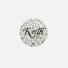Keith, Matrix, Abstract Art Mini Button