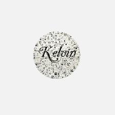 Kelvin, Matrix, Abstract Art Mini Button