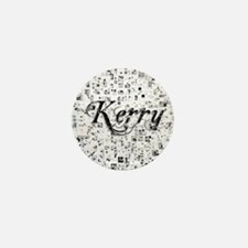 Kerry, Matrix, Abstract Art Mini Button