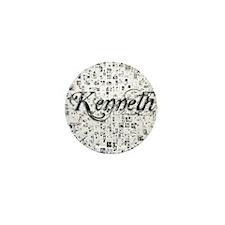 Kenneth, Matrix, Abstract Art Mini Button