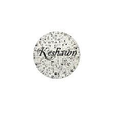 Keshawn, Matrix, Abstract Art Mini Button