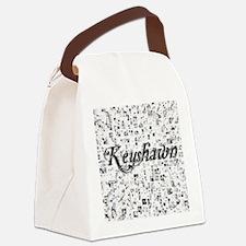 Keyshawn, Matrix, Abstract Art Canvas Lunch Bag