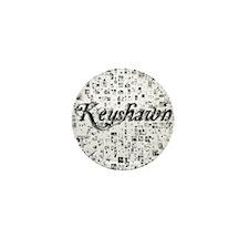 Keyshawn, Matrix, Abstract Art Mini Button
