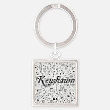 Keyshawn, Matrix, Abstract Art Square Keychain