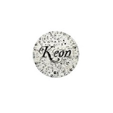 Keon, Matrix, Abstract Art Mini Button