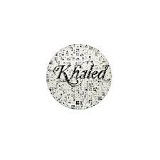 Khaled, Matrix, Abstract Art Mini Button