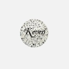 Keven, Matrix, Abstract Art Mini Button