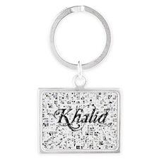 Khalid, Matrix, Abstract Art Landscape Keychain