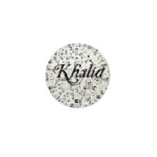 Khalid, Matrix, Abstract Art Mini Button