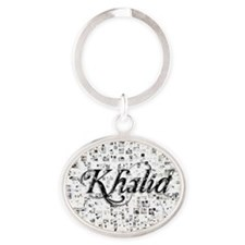 Khalid, Matrix, Abstract Art Oval Keychain