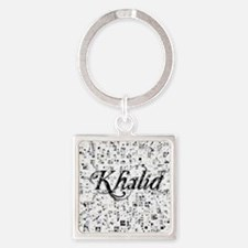 Khalid, Matrix, Abstract Art Square Keychain