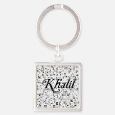Khalil, Matrix, Abstract Art Square Keychain