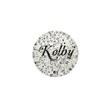 Kolby, Matrix, Abstract Art Mini Button
