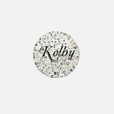 Kolby, Matrix, Abstract Art Mini Button
