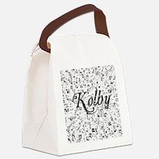 Kolby, Matrix, Abstract Art Canvas Lunch Bag