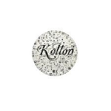 Kolton, Matrix, Abstract Art Mini Button