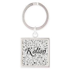 Kolton, Matrix, Abstract Art Square Keychain
