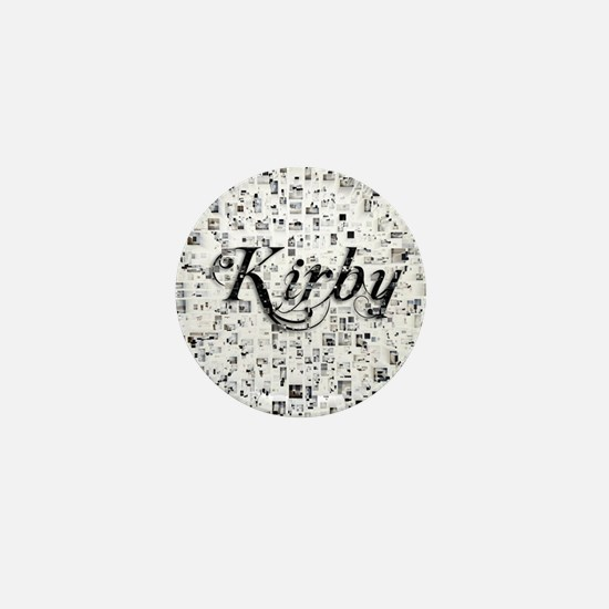 Kirby, Matrix, Abstract Art Mini Button