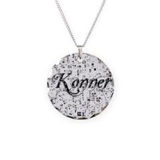 Konner, Matrix, Abstract Art Necklace