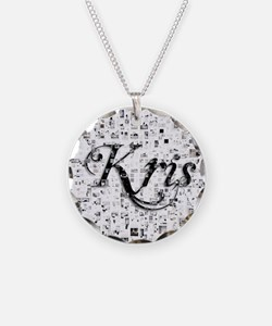Kris, Matrix, Abstract Art Necklace