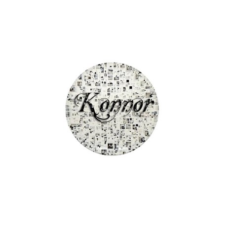 Konnor, Matrix, Abstract Art Mini Button
