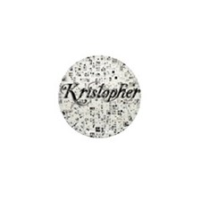 Kristopher, Matrix, Abstract Art Mini Button