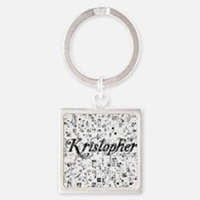 Kristopher, Matrix, Abstract Art Square Keychain