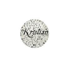 Kristian, Matrix, Abstract Art Mini Button