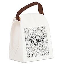 Kylan, Matrix, Abstract Art Canvas Lunch Bag