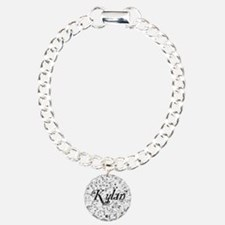 Kylan, Matrix, Abstract  Charm Bracelet, One Charm