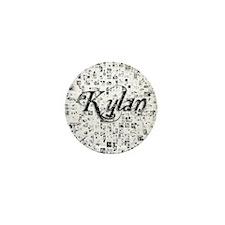 Kylan, Matrix, Abstract Art Mini Button