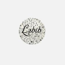 Labib, Matrix, Abstract Art Mini Button