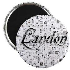 Landon, Matrix, Abstract Art Magnet